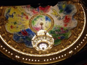 The famous Chagall ceiling in the auditorium of the Palais Garnier (Paris Opera House)