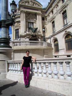 Outside the Palais Garnier (Paris Opera House)