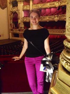 Inside the Palais Garnier (Paris Opera House) auditorium