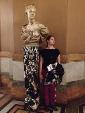 Imitating a statue inside the lobby of the Palais Garnier (Paris Opera House)