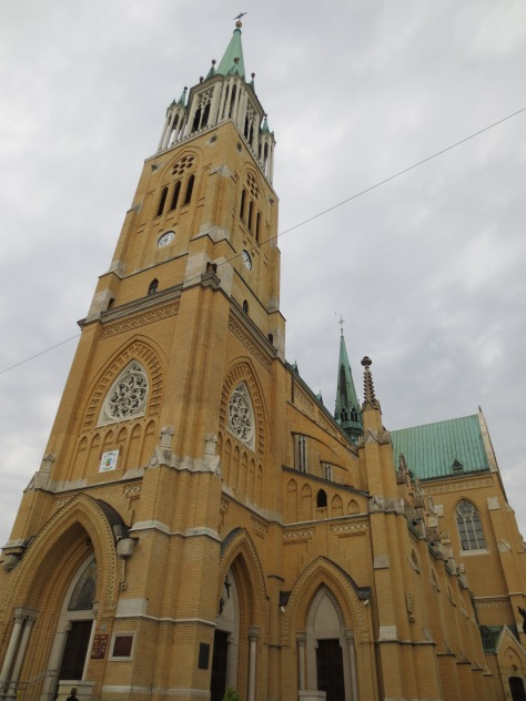 The St. Stanislaw Kosta Basilica (or, as my friend told me, the 'arches church')