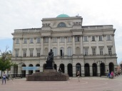 The Academy of Sciences in Warsaw, with Copernicus hanging out in front