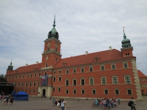 The outside of the Royal Castle in Warsaw