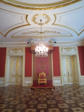 The council chamber at the Royal Castle