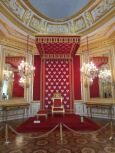 The throne room, with 86 embroidered silver eagles