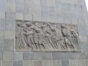 A monument commemorating the Warsaw Ghetto Uprising