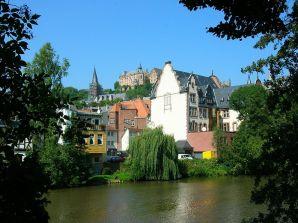 Marburg, across the Lahn River. Photo by Matthiashess via Wikipedia.