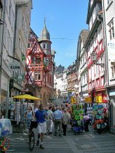 Wettergasse (one of the main streets) in Marburg. Photo by Nikanos, via Wikipedia.