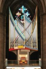 The rather incongruous organ in the Elisabethkirche. Photo by Orgelbau Klais Bonn.