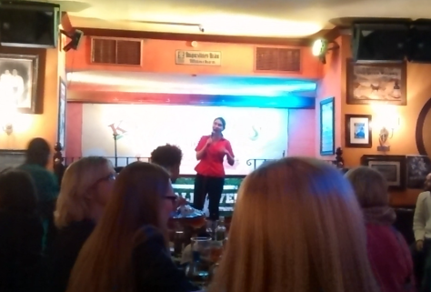 "That's really me on the karaoke stage! I was going to give you a video of my ""There's no business like show business,"" but YouTube took away my right to post unlisted videos, and no way was I going to make that public!"