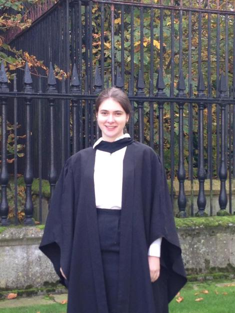 Outside the Senate House, immediately following graduation