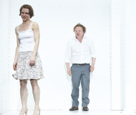 Faust (Werner Wölbern) and Gretchen (Andrea Wenzl), before everything goes to hell. Photo: Matthias Horn