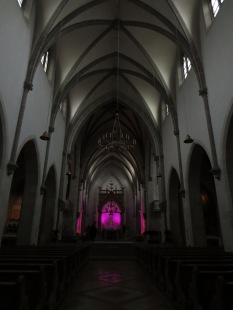Inside the large chapel