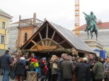 Medieval Christmas market at Odeonsplatz. I didn't get a picture, but there were costumed actors walking around (including one carrying hooded falcons)