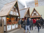 """Medieval Christmas market at Odeonsplatz. The """"apothecary"""" sold various sorts of liquor in small vials"""