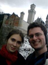 Jason and I, on the observation deck below the castle