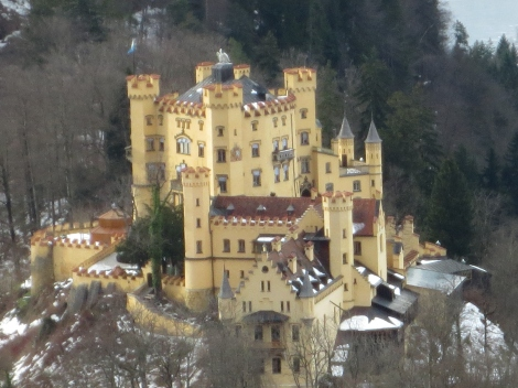 Hohenschwangau, the castle at the bottom of the hill
