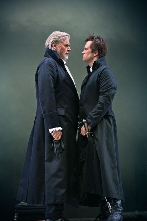 Peter Simonischek as Kurfürst and August Diehl as Homburg, Salzburg Festival 2012. Photo: Luigi Caputo