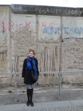 The still-standing portion of the Berlin Wall