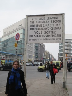 The sign at Checkpoint Charlie
