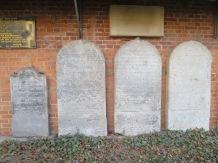 Recovered gravestones