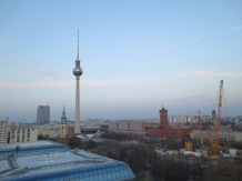 A view of the TV Tower and the rotes Rathaus from atop the Dome