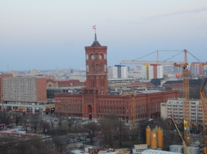 View of the rotes Rathaus from atop the Berlin Dome