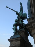 A statue on the side of the Dome