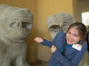 Flinching from ancient Syrian lions in the Pergamon Museum