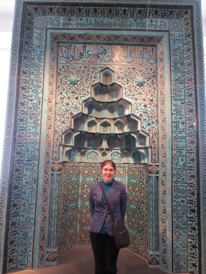 So much turquoise! (the acoustically reflective niche from an Islamic mosque, in the Pergamon museum)