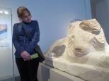 A friendly ancient Greek (?) lion