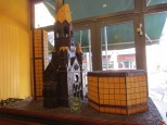 """A chocolate model of the """"broken tooth"""" church tower in Berlin"""