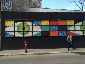 The mosaic eyes are watching you
