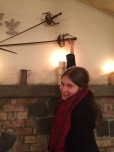 Of course, the musketeers' swords were on the wall