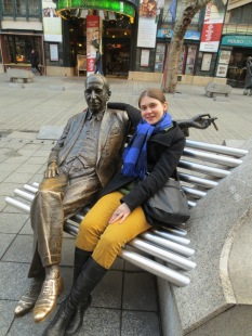 Chilling with Emmerich Kalman outside the operetta theater. He's a very beloved composer in Hungary, but internationally he's mostly only known for The Gypsy Princess.... which I will (coincidentally) see for the first time when it tours to Munich (from Budapest) in June!