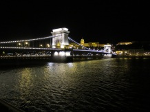The chain bridge by night