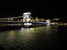 The chain bridge by night