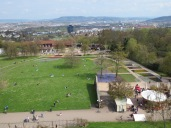 Part of Killesberg Park, as seen from the tower