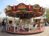 A carousel from 1900---still in operation. Sadly, the horses are stationary