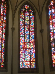 Stained glass in the Stiftskirche