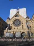 Some of the prettiest buildings in Cologne---like the main synagogue, here---are under construction