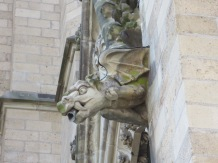 I loved this gargoyle on a church I passed