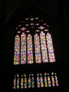One of these stained glass windows is not like the others