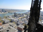 View of the Rhine from atop the tower