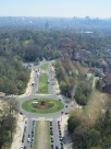 A view from the top of the Atomium