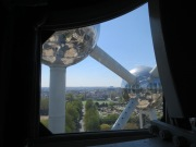 Some of the Atomium from inside one of the spheres