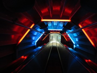 One of the connecting tubes in the Atomium