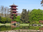 View of the Chinese Tower from Laken Palace grounds