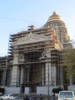 The Palais de Justice has just a little bit of construction going on