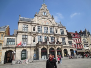 In front of the old opera house
